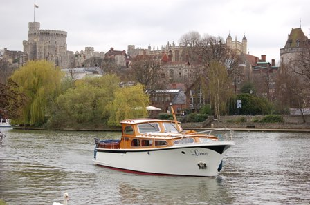 Larus in front of Windsor Castle