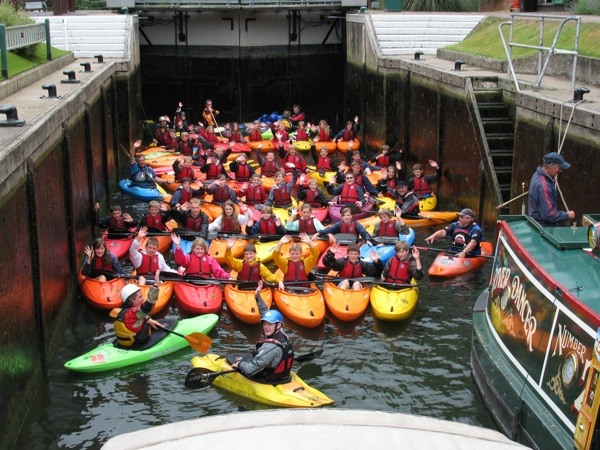 50 Canoes in Marlow Lock