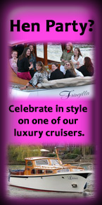Luxury boat hire for Hen Parties on the River